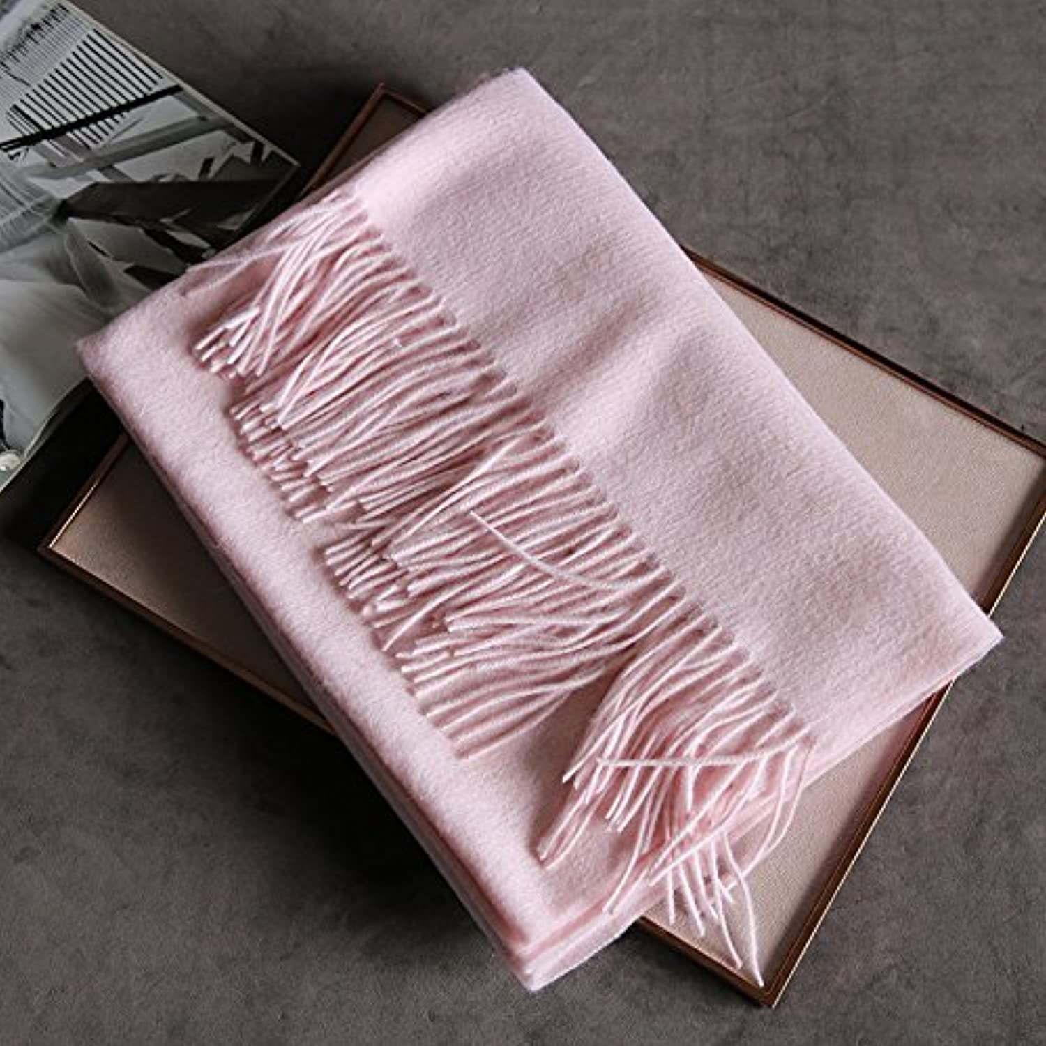 DIDIDD Scarfsimple thickening cashmere shawls ladies autumn winter scarf