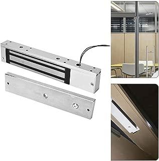 Rosvola Cerradura magnética eléctrica, DC12V 280kg Fuerza de retención Cerraduras de electroimán Modo NC Seguro para cajón de gabinete de Puerta