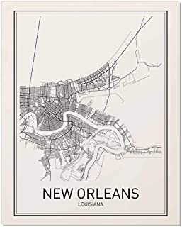 New Orleans Poster, Map of New Orleans, New Orleans Map, City Map Posters, Modern Map Art, City Prints, Minimal Print, Louisiana Wall Art, City Poster, City Map Wall Art, Minimalist Posters, 8x10