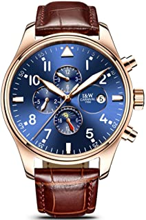 Swiss Watch Men's Complex Function Analog Automatic Mechanical Watch Stainless Steel Luminous Watch