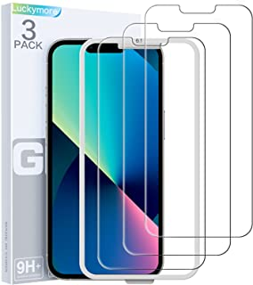 Luckymore Compatible with iPhone 13 Screen Protector, Glass Screen Protector for iPhone 13 Pro 6.1 Inch 3-Pack