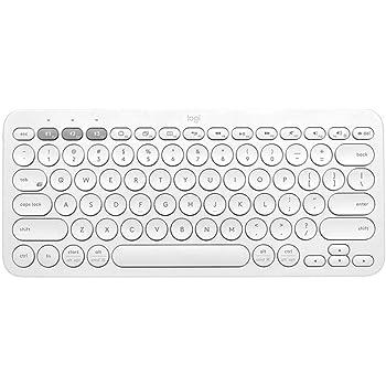 Logitech K380 Multi-Device Wireless Bluetooth Keyboard for Mac - Off White