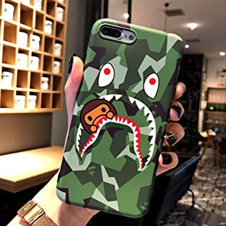 Fanke iPhone 8 Plus iPhone 7 Plus Case,IMD Sleek Smooth Texture Anti Scratch Non Faded Coloring Premium TPU Slim Fit Soft Cover for 5.5 iPhone 7p 8p with Street Fashion Design (ShaYu Monkey Green)