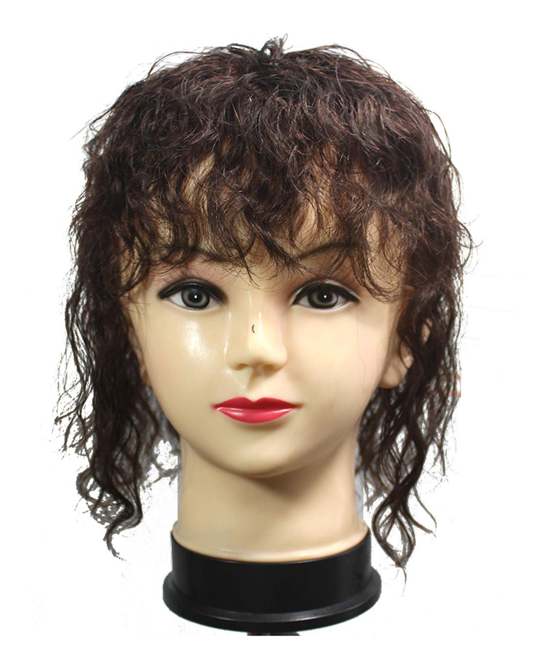 Las Vegas Mall Curly Human Hair Topper with Shipping included Bangs Clips Volume Ha Women in for
