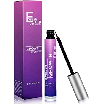 Eyebrow & Eyelash Growth Enhancer – Eyelash Growth Serum with Biotin & Natural Growth Peptides for Long, Thick Looking Lashes and Eyebrows Dermatologist Certified & Hypoallergenic conditioning