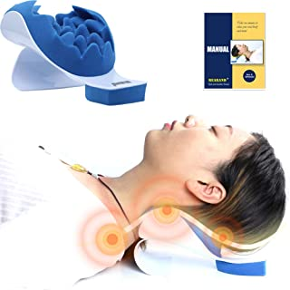 جرقه گردن و شانه رفلکس کمک به کاهش درد گردن و حمایت از شانه ریلکس ماساژ کشش بالش کایروپراکتیک برای مدیریت تسکین درد و تراز التهابی گردن رحم