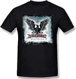 maichengxuan Alter Bri-dge Black-Bird Hombre Camiseta Manga Corta Cuello Redondo Camiseta Verano Tops Negro
