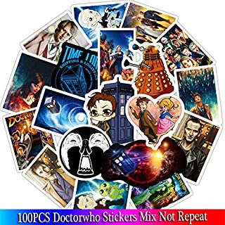 Stickers Pack 100 pcs Doctor Who Luggage Vintage Skateboard Wall Decor Gift for Kids (D100-150)