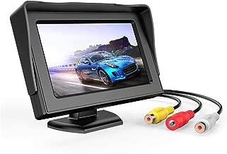 B-Qtech 4.3 inch LCD Display Backup Camera and Monitor Rear View Reverse Camera Waterproof for Car SUV Van