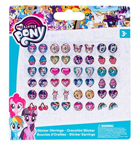 Joy Toy 95852 - My Little Pony Stickerohrringe Auf Backercard, 11 x 12, 5 cm