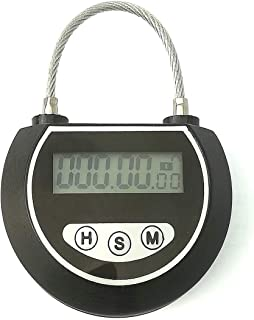 Electronic Timer Timed Locks Multi-Function Travel Lock Without Charging Use 3 Years (Black)