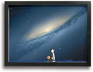 POLKJIH Calvin and Hobbes Popular Wall Oil Paintings Poster Artworks Ready to Hang for Home Decoration Room Decor 16x12inch