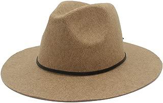 Fedora Cap Wool Men Women Fedora Hat Dance Party Hat Casual Wild Church Hat Adult Jazz Hat Size 56-58CM Felt hat (Color : Khaki, Size : 56-58)