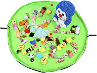 Large Toy Storage Bag  Children Toy Mat Storage  inch 154cm  Portable Kids Toys Organizer Light Green