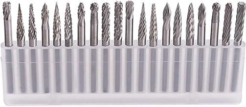 Fräser bit set – GOXAWEE 20 st. volfram hårdmetall-titanpennor hårdmetallskärare Rotary filer verktyg diamant galler set m...