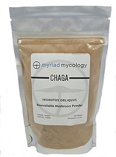 Myriad Mycology Chaga Mushroom Powder 5.2oz or 150g, Made in USA / Bai Hua Rong