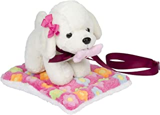 Ribbon & Joy - 5 Piece Plush Puppy Toy Set - Perfect for 18 inch American Girl Doll Accessories