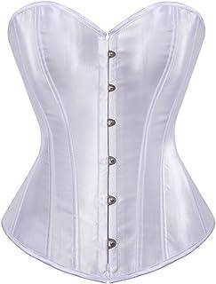 Kranchungel المرأة Bustier مشد مثير من الساتان مطرز فوق الصدر الخصر Cincher ملابس داخلية أعلى