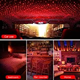 Car Star Lights USB, Romantic Auto Roof Star Lights, Adjustable Angle and Star Density with No Need to Install Car Roof Lights Romantic USB Lights