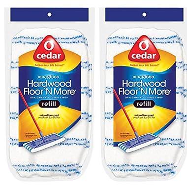 O-Cedar Hardwood Floor 'N More Microfiber Mop Refill (Pack of 2)