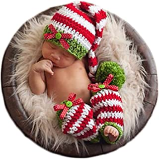 Baby Photography Props Photo Shoot Outfits Newborn Costume Infant Christmas Clothes Hat Leggings