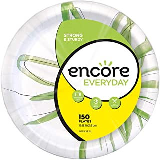 "Encore Everyday 10.06"" Paper Plates, 600Count (4 Pack of 150)"