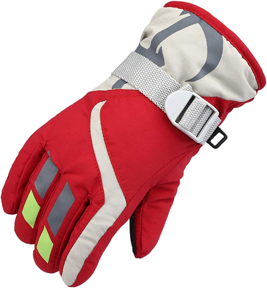 Children Gloves Waterproof And Breathable Snow Gloves Kids Winter Warm Outdoor Riding Thickening 2-5 Years