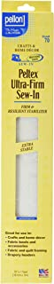 Pellon Ultra-Firm Sew stabilizer, 1 Pack, White
