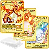 3PCS Collectors Pokemon Metal Gold Plated...