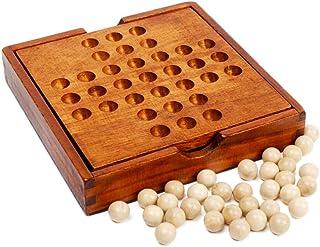 T TOOYFUL 木製玩具 ペグソリティア 木製ボードパズル 一人遊び 大人も子供も 発想力 思考判断力 ソリティア