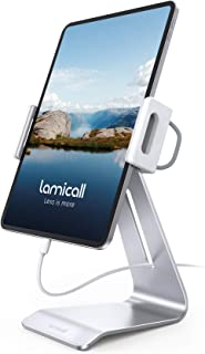 "Lamicall Support Tablette, Support Tablette Réglable - 360° Support Stand pour 4.7""~13"" Tablette, 2020 iPad Pro 9.7, 10.5,..."