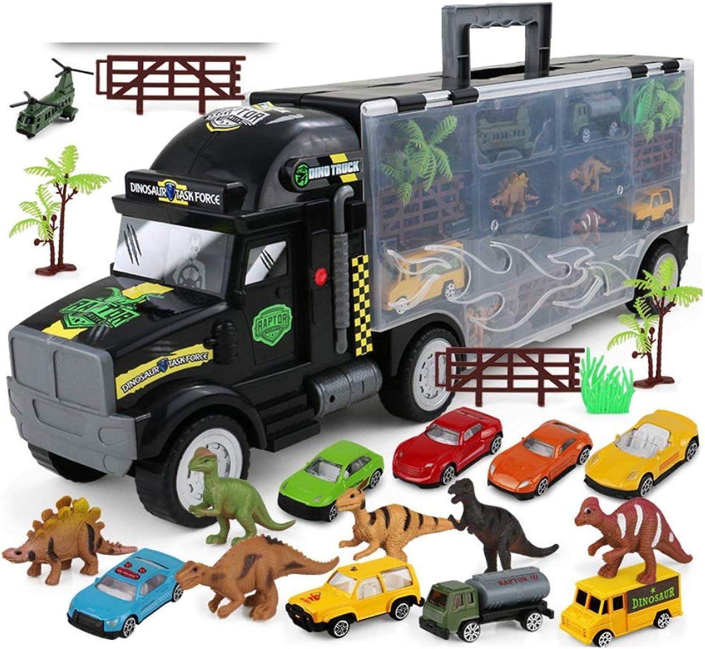 compras de moda online Yingjianjun Yingjianjun Yingjianjun Transporte Transporte Camión Camión Juguete, Transportador de automóviles Dinosaurio Contenedor Camión Coche de Metal Niño y niña Cochereras 3-4-5-6 años (Color   2)  el mas de moda