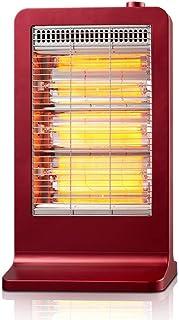 Radiador eléctrico MAHZONG Calentador de Fibra de Carbono infrarrojo lejano, 3 configuraciones de calefacción, 900 W, Rojo