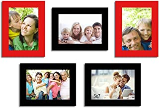 Art Street and Art Street Unite Set of 5 Individual Photo Frame/Wall Hanging for Home Décor - Multicolor