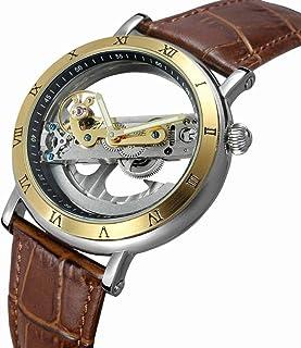 KKmoon FORSINING Luxury Skeleton Automatic Mechanical Men Watch Self-Wind Stainless Steel/Genuine Leather Man Business Wri...