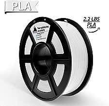PLA Filament, 3D Hero PLA Filament 1.75mm,PLA 3D Printer Filament, Dimensional Accuracy +/- 0.02 mm, 2.2 LBS(1KG),1.75mm Filament,White