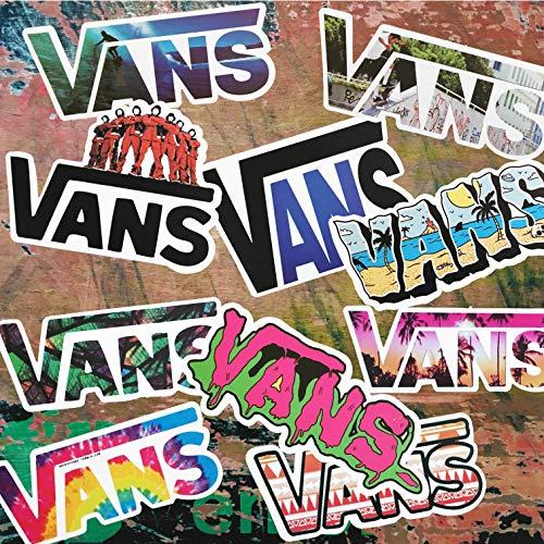 M VANS Skateboarding Stickers - Vans Stickers - Vinyl Matte Stickers - VANS LOGOS - TEN VANS LOGOS