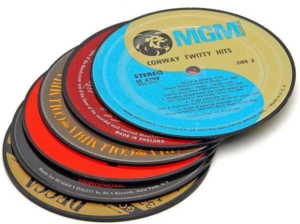 Vintage LP Record Coasters Set Of 6
