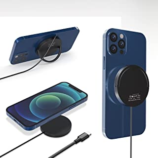 「2021最新版」ワイヤレス充電器 Anikks マグネット式 mag-Safe充電対応 最大15W 急速充電 マグネット式 Phone 12用 qi充電器 スマホスタンド機能搭載 Phone 12 pro/12 mini/12 maxなどスマ...