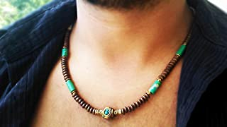 Mens necklace - Surfer necklace - Jadeite and hematite gems - Men Neckless - Gifts for men - Unisex necklace - Men jewelry
