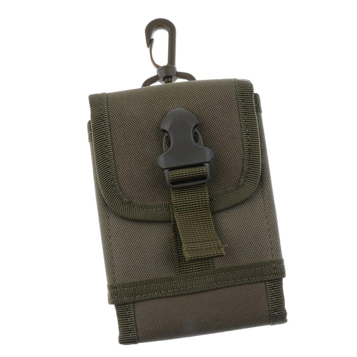 導入する咽頭悪い【ノーブランド品】 防水オックスフォード生地 戦術的 バッグ 携帯電話 ベルト ループ フック ケース ポーチ ホルスター 3色選べる