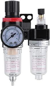 Air Pressure Regulator 1 4   Air Filter Regulator Lubricator  Water Pressure Compressor Moisture Trap  Oil Separator