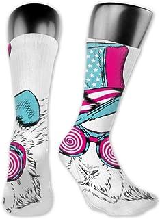 Leila Marcus, Calcetines para hombre y mujer, cómodos, ligeros y sudorosos, divertidos y divertidos, con diseño de conejo inusual, medianos y largos