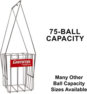Gamma Sports Tennis Ballhoppers - Multiple Styles and Colors - Durable, Convenient, Heavy Duty Construction, for Easy Pickup, Carrying and Storage - 50 to 140 Tennis Ball Capacity