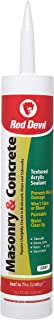 Red Devil 0646 Masonry and Concrete Acrylic Sealant Repair, Gray, 10.1 Oz Cartridge