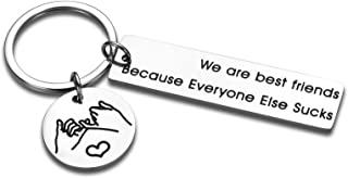 Funny Best Friend Keychain birthday Gifts for Friends BFF Soulmates Companion Friendship Gifts Brother Sister keychains fo...