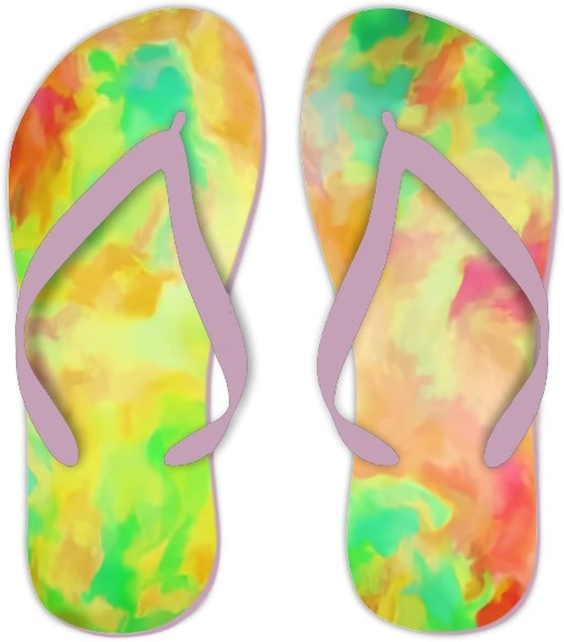 Summer Flip Flops for Men Women Texture Colorful Modern Soft Lightweight Non Slip Sandals for Shower Beach Pool Bathroom Flat 11.5