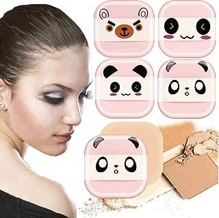 #501 2018 Fashion5pcs Cute Emoji Sponge Foundation Makeup Brush Powder Puff Brush,Pink