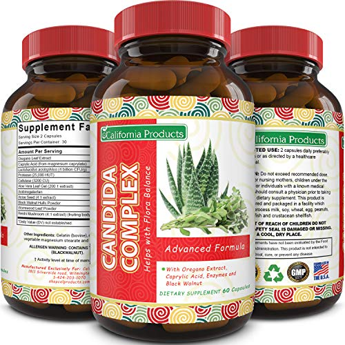 Candida Cleanse Supplement Natural Detox for men and women Boost Digestive Health Support Internal...