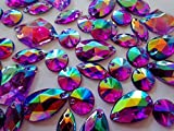 300PCS Mixed forma viola colori AB Crystal Sew on strass acrilico perline cucire a mano strass